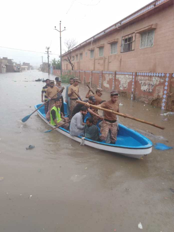 Army to the rescue - Rain water flooding