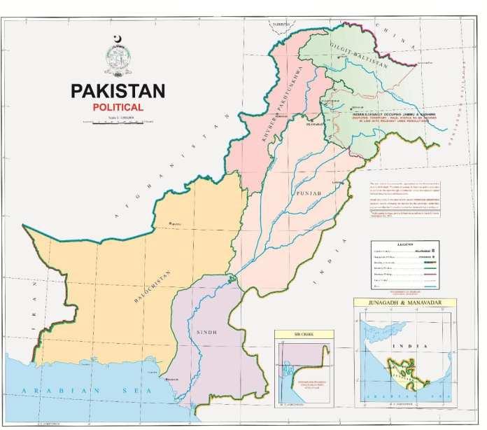 Political Map of Pakistan 2020