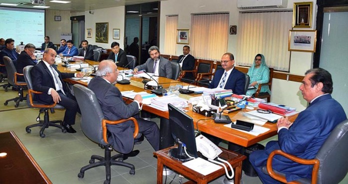 ISLAMABAD: September 09 - Chairman NAB, Justice (Retd) Javed Iqbal chairing executive board meeting of NAB at headquarters. APP