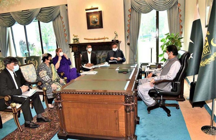 ISLAMABAD: September 02 - Minister for Human Rights Dr. Shireen Mazari called on Prime Minister Imran Khan. APP