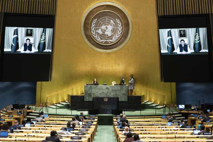 PM Imran Khan virtually addresses the 75th Session of the UN General Assembly