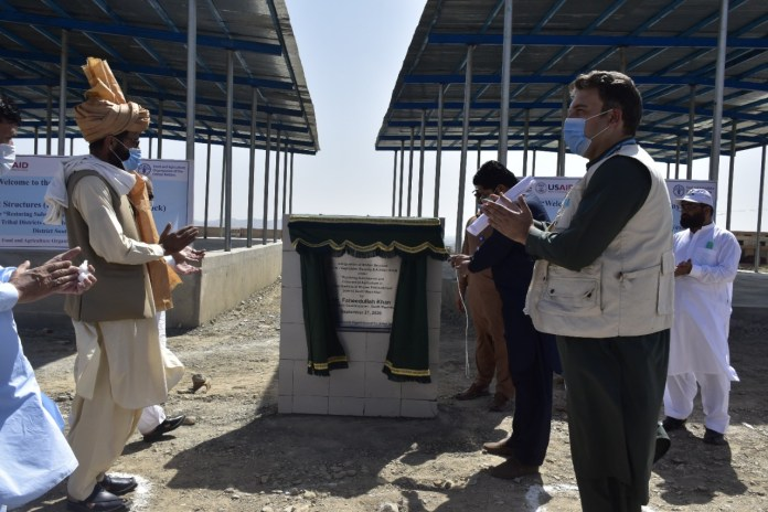 FAO Inaugurates Market Structures and Livestock Sheds in South Waziristan