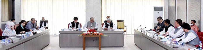 ISLAMABAD: October 08 - Speaker National Assembly Asad Qaiser presiding over a meeting of special committee on agricultural products at Parliament House. APP