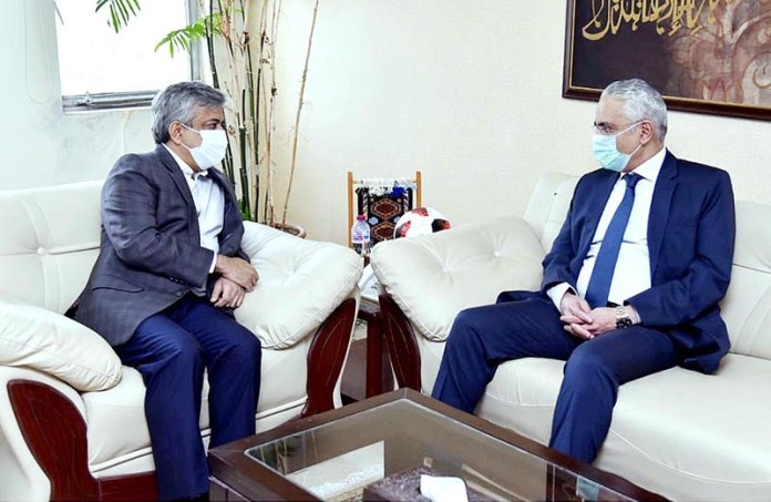 ISLAMABAD: October 09 - Ambassador Of The Arab Republic Of Egypt To Pakistan, H.E. Mr. Tarek Mohamed Dahroug calls on Secretary Commerce, Muhammad Sualeh Ahmed Faruqui. APP