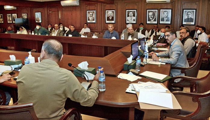 KARACHI: October 08 - Parliamentary Committee to Protect Minorities Against Forced Conversions held a detailed meeting with Sindh Government authorities to discuss the issue in particular context of the province. APP