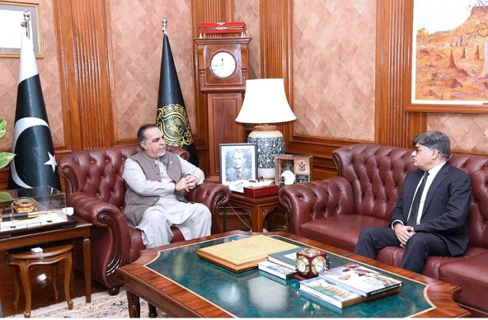 KARACHI: October 17 - Attorney General Pakistan Khalid Javed Khan calls on Sindh Governor Imran Ismail at Governor House. APP