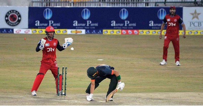 RAWALPINDI: October 15 – A view of cricket match between Balochistan and Northern teams during National T20 Cup plays at Pindi Cricket Stadium. Sindh team won the match. APP photo by Abid Zia