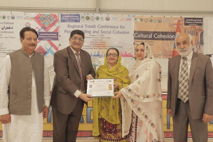 Certificate Distribution at Youth Conference at University of Turbat