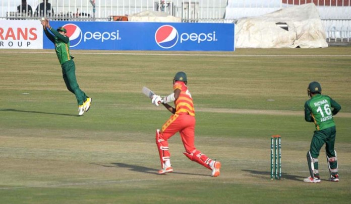 RAWALPINDI: November 01 – A view of 2nd One-Day International (ODI) cricket match played between Pakistan and Zimbabwe teams at Rawalpindi Cricket Stadium. APP photo by Abid Zia