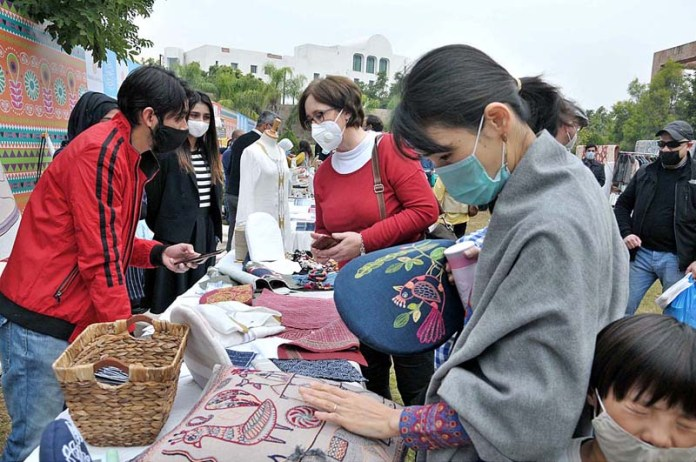 ISLAMABAD: November 22 – Women visitors taking keen interest in different stuff displayed on stalls during IFWA Charity Bazaar 2020, fund raising for Sunbeams School and Al-Fridous Community School during 25th IFWA anniversary organized by Islamabad Foreign Women's Association & Serena Hotels