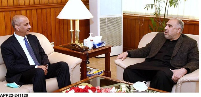 Ambassador of Afghanistan Najibullah Alikhil called on Speaker National Assembly Asad Qaiser at Parliament House