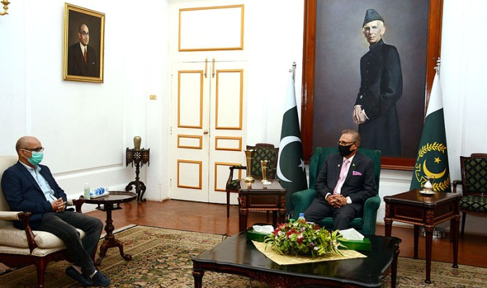 PTI Member Sindh Assembly Dewan Sachal called on President Dr. Arif Alvi at Governor House