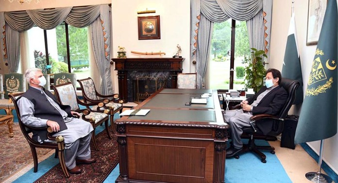 Mehmood Khan, Chief Minister KP called on Prime Minister Imran Khan