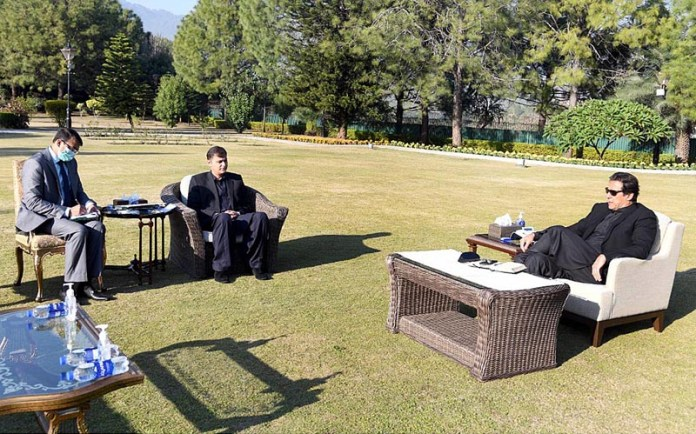 Khawaja Sheraz Mehmood MNA from NA 189 constituency called on Prime Minister Imran Khan