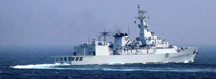 Pakistan Navy Ship Zulfiquar during Passage Exercise (PASSEX) with Royal Jordanian Navy Force during Overseas Deployment