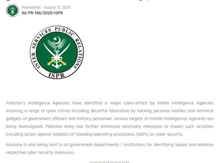 ISPR Press Release