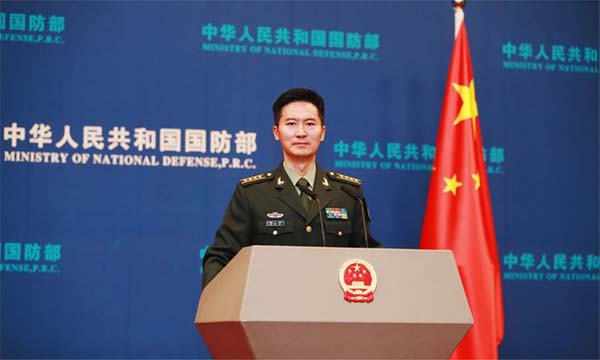 Chinese Defense Ministry's Spokesperson Colonel Tan Kefei