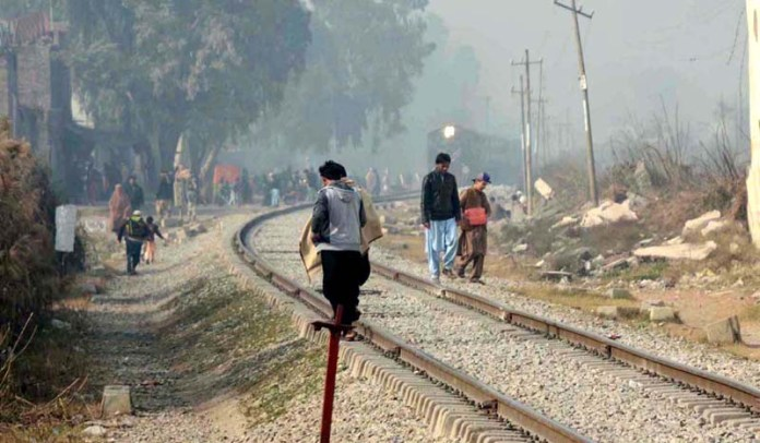 People crossing railway tracks while a train approaching on the track may cause any mishap and needs the attention of concerned authorities