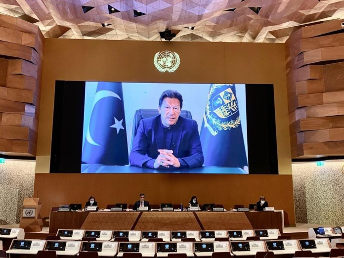 Prime Minister Imran Khan virtually addresses the 4th Session of the United Nations Conference on Trade and Development (UNCTAD)