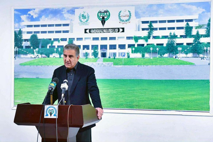 Govt ready for dialogue with opposition at Parliament, except for accountability process: Shah Mahmood Qureshi
