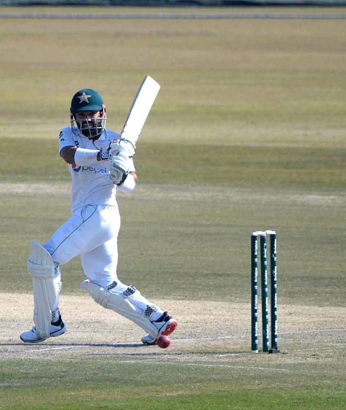 A view of cricket match between Pakistan and South African teams on the fourth day of 2nd Test cricket match played at Pindi Cricket Stadium
