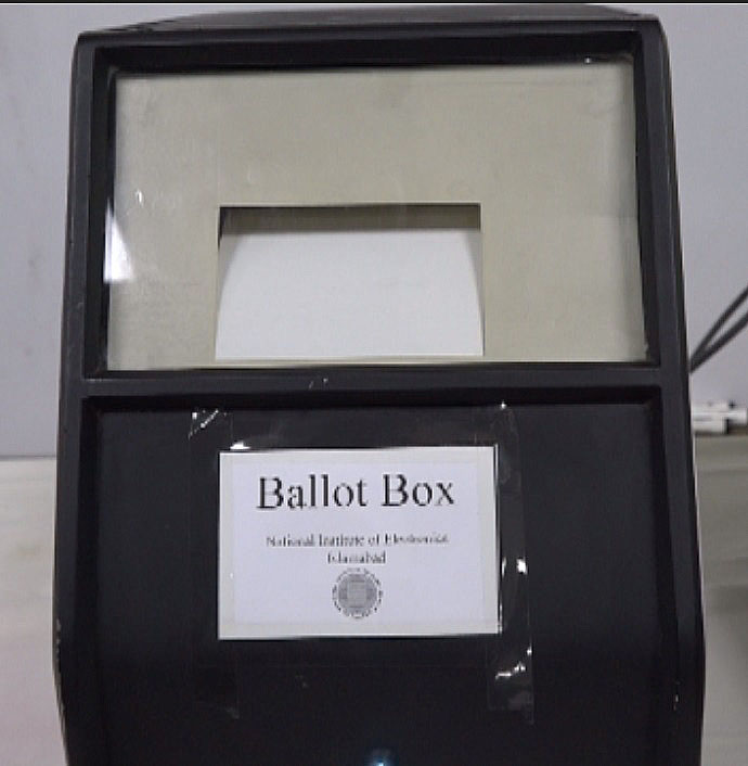Ballot Box Machine that prints out a receipt and also maintains record
