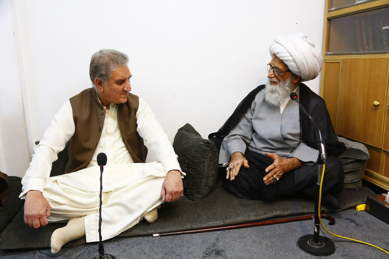 Qureshi meets Ayatullah Najafi; calls for Ulema role for Muslim unity