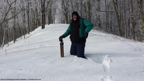 Photographer Roddy Addington Standing In 2 FEET of Snow