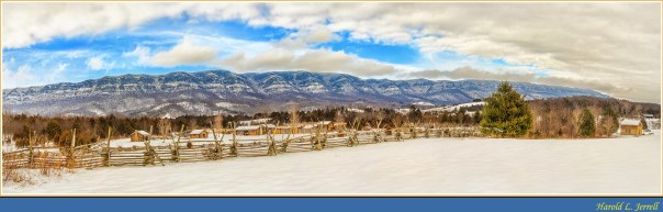 Wilderness Road State Park & Cumberland Mountain Panorama - February 24, 2015
