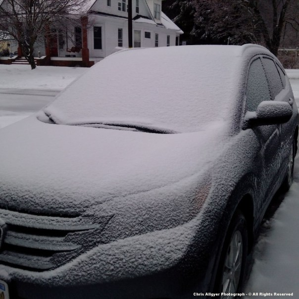 New Snow Accumulation In Big Stone Gap ( On Vehicle )