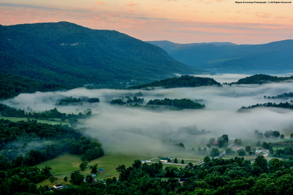 Shallow Morning Fog In Powell Valley