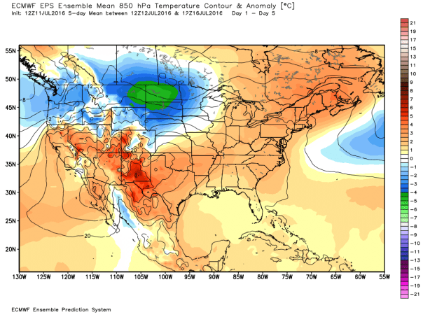 European Ensembles Composite MEAN 850 MB TEMP Forecast
