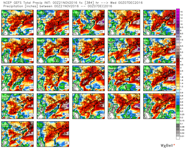 GFS Ensemble Total Precipitation Forecast