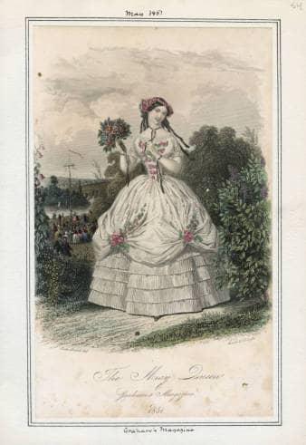 The May Queen, May 1851, Graham's Magazine (Philadelphia)