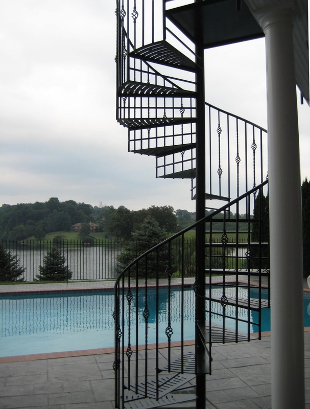 Appalachian Ironworks Of Virginia Appalachian Ironworks Of Virginia | Custom Iron Stair Railing | Indoor | Steel | Metal | Curved | Ornamental