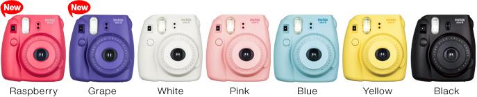 polaroid Fujifilm Instax Mini 8 toutes les couleurs