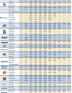 Download size chart large image also apparel choice rh apparelchoice
