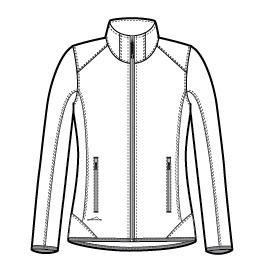 Eddie Bauer Ladies Dash Full-Zip Fleece Jacket Custom