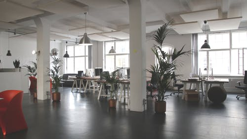 beautiful and productive office