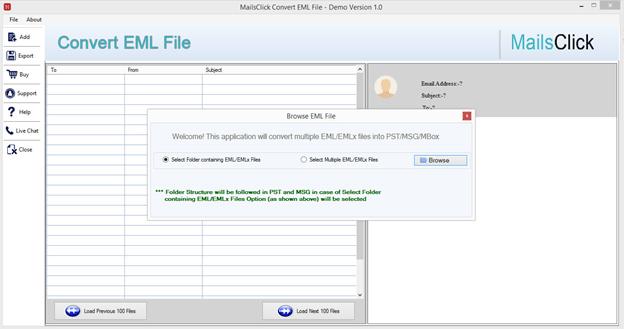 convert EML Files