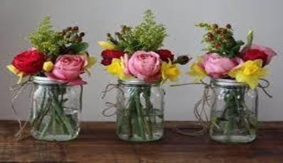 Flowering mason jars