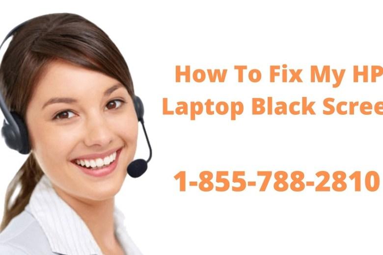 hp laptop black screen