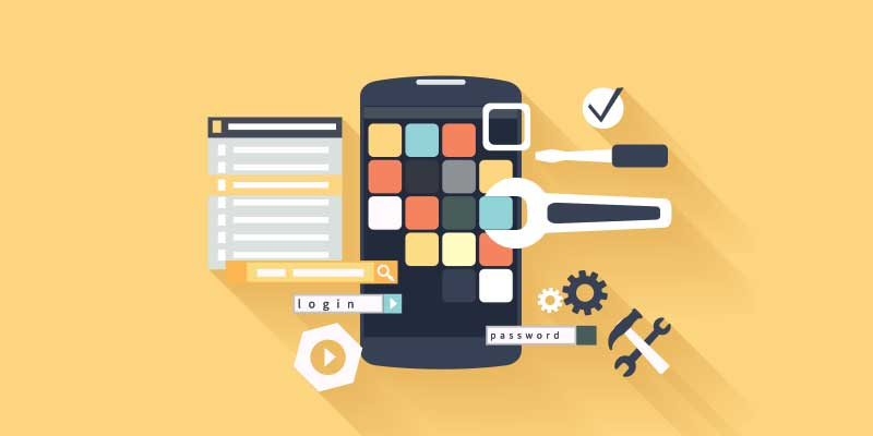 Development of mobile applications for business automation