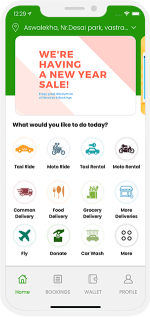 Grab clone : Ride with Delivery App