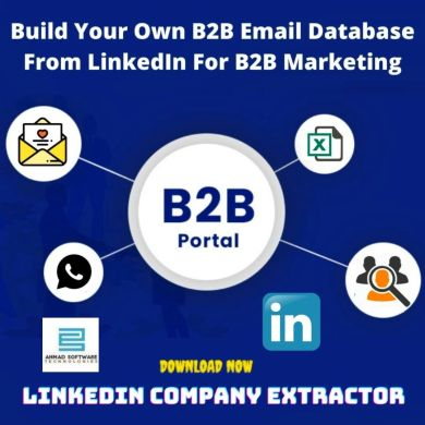 build an email database from LinkedIn
