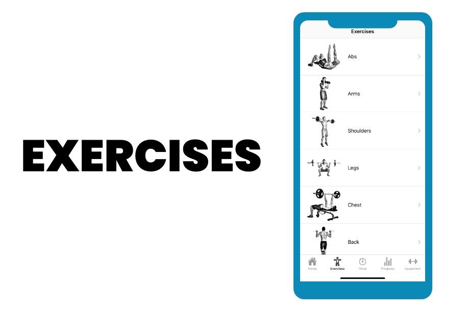 Exercises Screen
