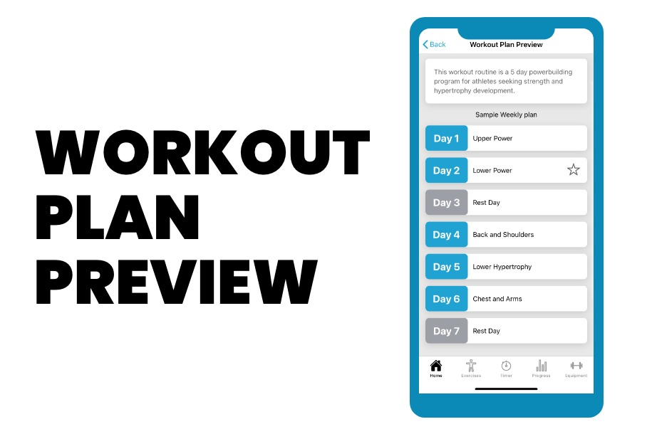 PHAT workout app workout plan preview