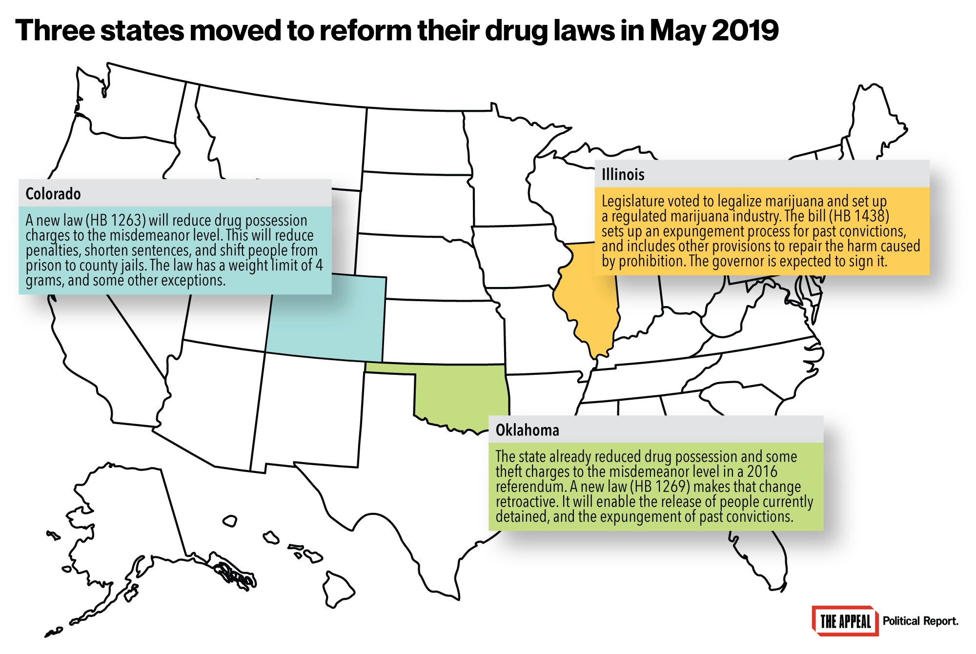 Legalized Marijuana, Reduced Sentences: Three States Reform