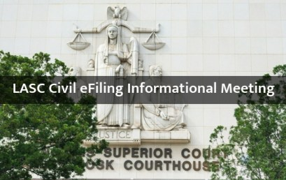 LASC Civil eFiling Informational Meeting