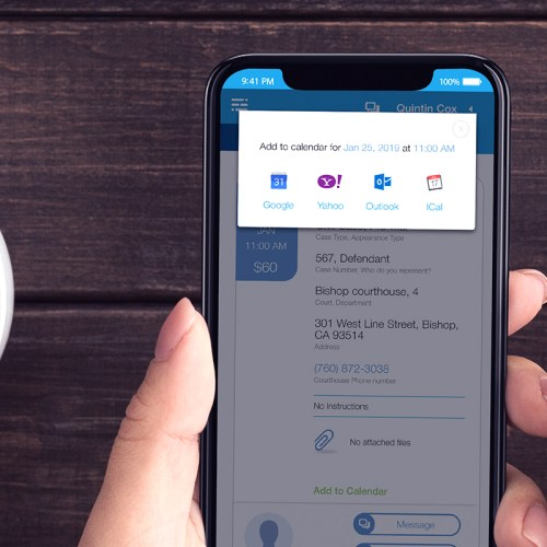 AppearMe: Schedule a Court Reporter Using a Modern App